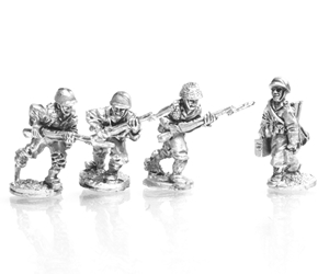 ETO Riflemen advancing