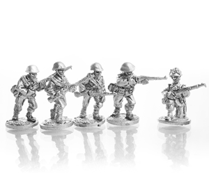 ROM Riflemen in steel helmest